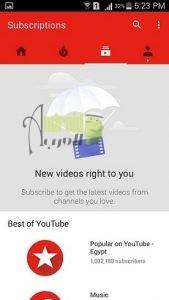 تطبيق يوتيوب للاندرويد