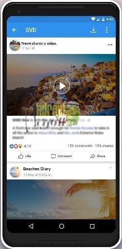 برنامج تنزيل الفيديو من الفيس بوك
