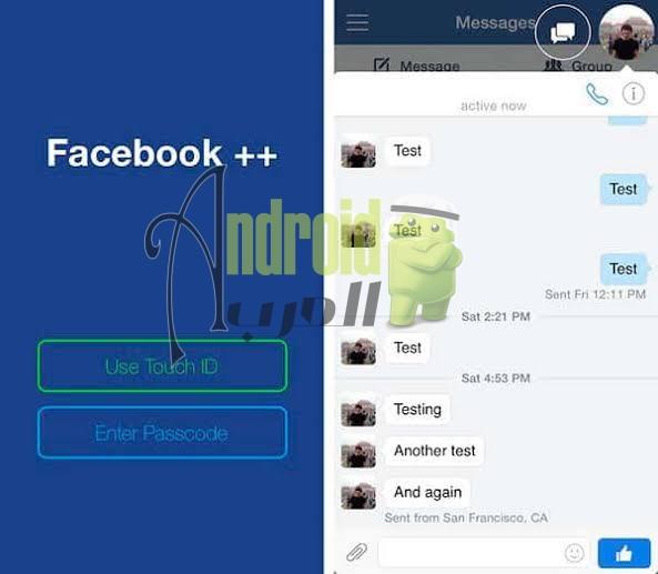 تنزيل فيس بوك بلس للاندرويد و للجوال